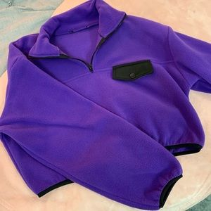 Purple cropped quarter zip up